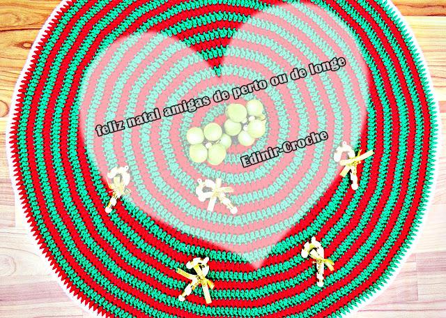 tapete de croche natal espiral aprender croche curso edinir-croche barroco maxcolor circulo