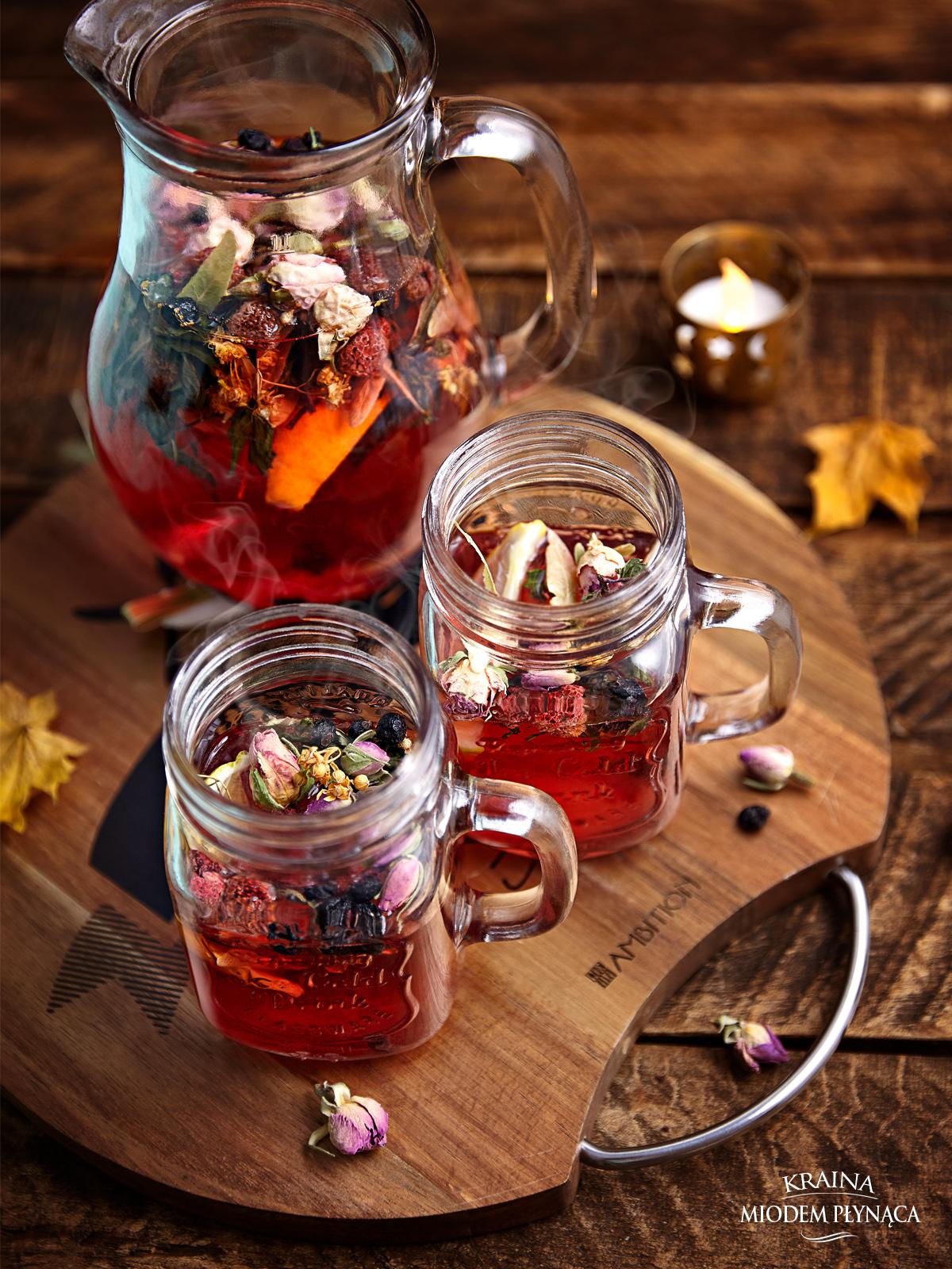 herbata pełna zdrowia, zdrowotna herbata, herbata na odporność, herbata rozgrzewająca, konkurs ambition, fotografia kulinarna, kraina miodem płynąca