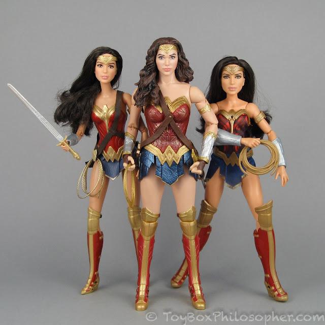 New Just Deboxed Mattel Gal Gadot Wonder Woman Barbie Doll Sword Plastic Toy