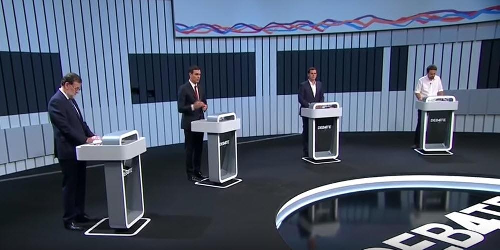 El tándem Sánchez-Rivera contra Rajoy e Iglesias en un debate aburrido y sin sorpresas