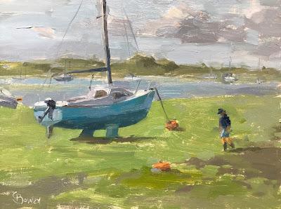 #176 'Low Tide Emsworth Harbour' 18x24cm