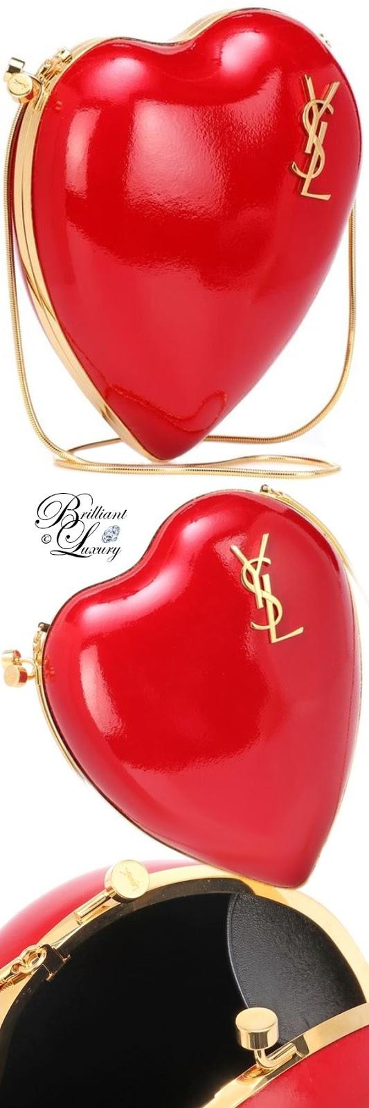 Brilliant Luxury ♦ PANTONE Fashion Color SS 2019 ~ Fiesta ♦ Saint Laurent Love Box leather shoulder bag #red