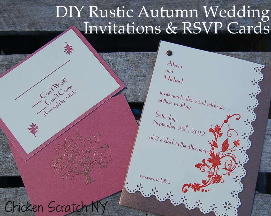 Homemade Fall Wedding Invitations: DIY Autumn Wedding Invitations