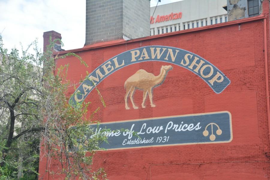 Ancien signe camel à Winston-Salem