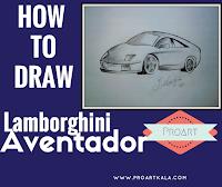 learn to draw lamborghini