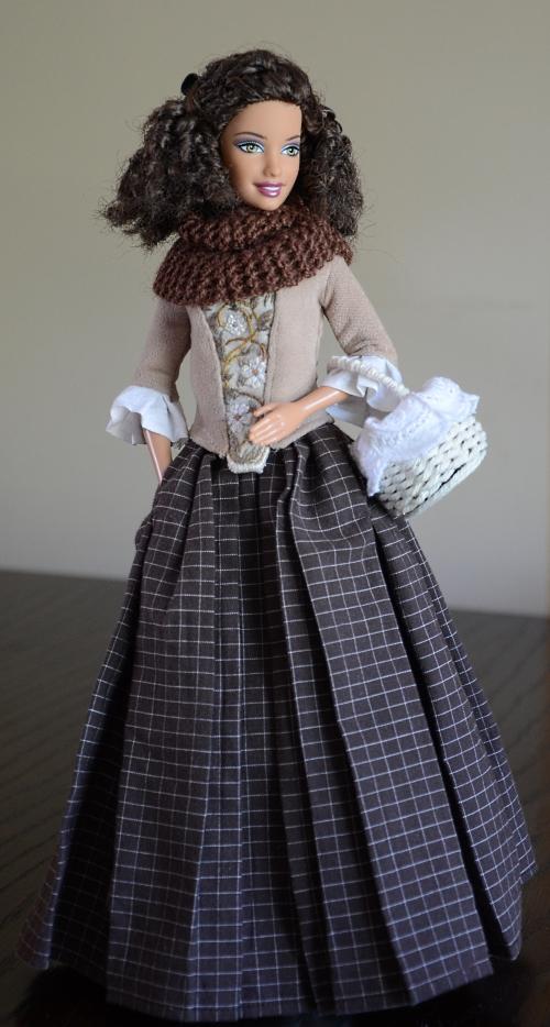 18th century doll's dress.