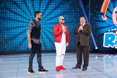 Latino, MC G15 e Raul Gil (Crédito: Rodrigo Belentani/SBT)
