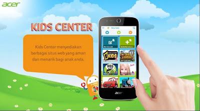 akses berbagai situs aman di Kids Center
