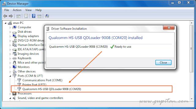 Qualcomm HS-USB QDLoader 9008 (COM20)