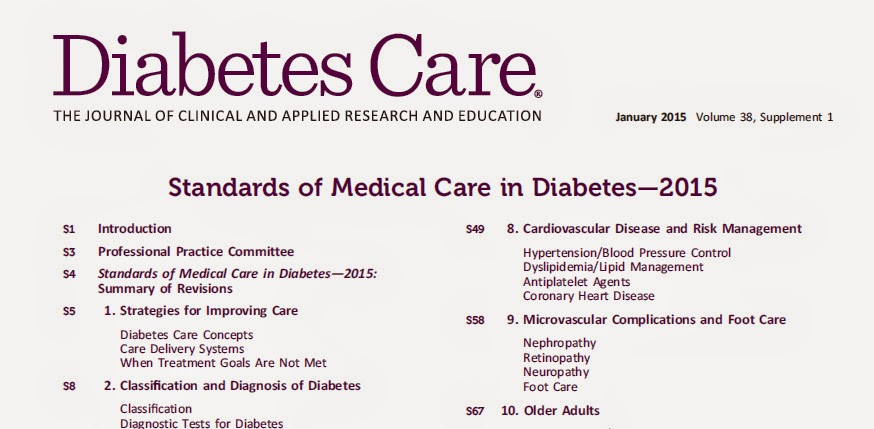 Standards Of Medical Care In Diabetes
