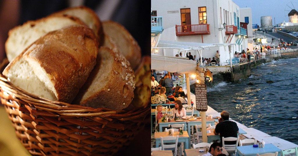Μύκονος: Ζευγάρι Ελλήνων πλήρωσε 28 ευρώ για τέσσερις φέτες ψωμί