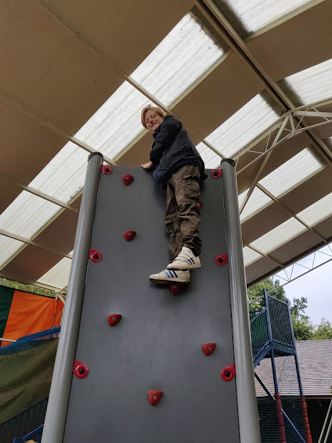 climbing wall at Paradise Wildlife Park, Herts