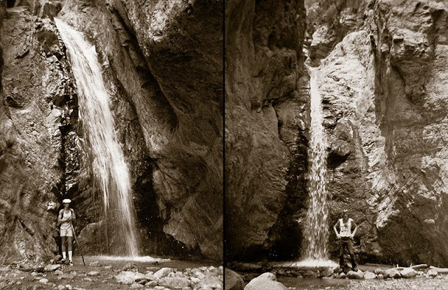 These two photos, taken back in 1978, give you an idea of water flow in the back canyon during that year.