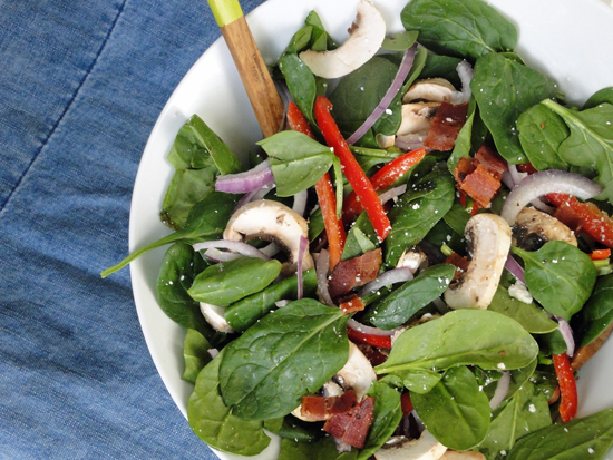 Spinach Salad With Feta Recipe