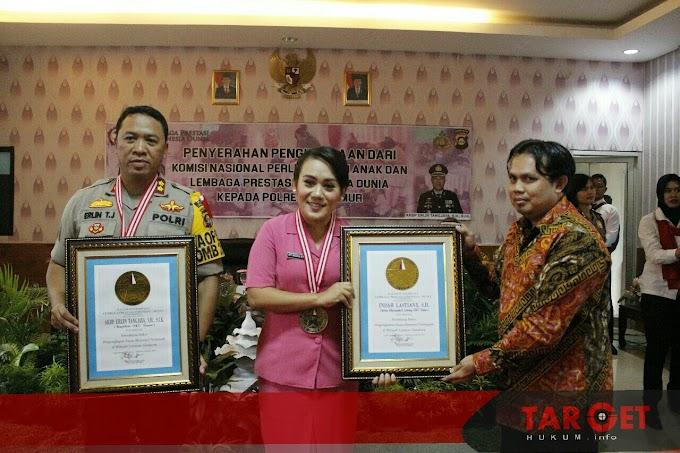 Kapolres OKU Timur Raih Penghargaan dari Komnas Perlindungan Anak dan LEPRID