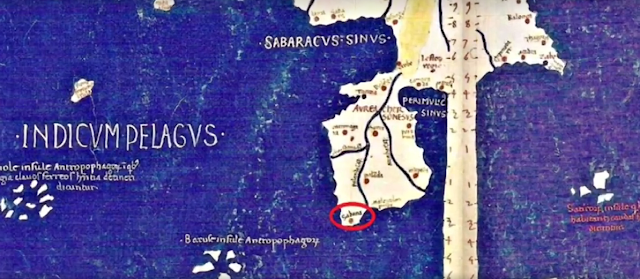 Sabana on Ptolemy's world map