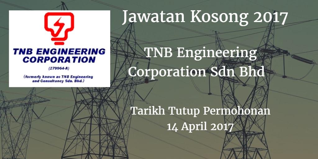 Jawatan Kosong TNB Engineering Corporation Sdn Bhd 14 April 2017