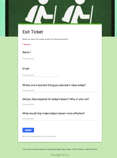 5 Great Google Forms Templates For Teachers Educational