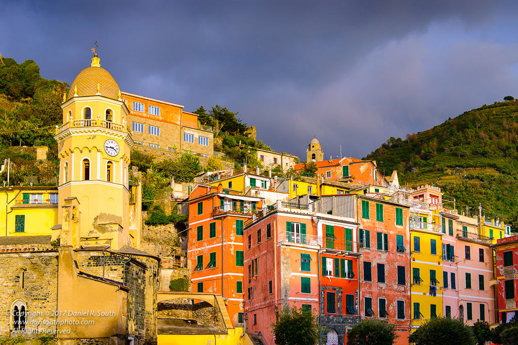 a photo of vernazza cinque terre liguria italy cloudy skies