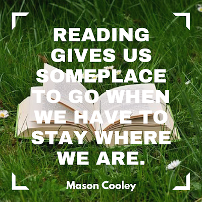 Reading gives us some place to go when we have to stay where we are. #books #readeveryday