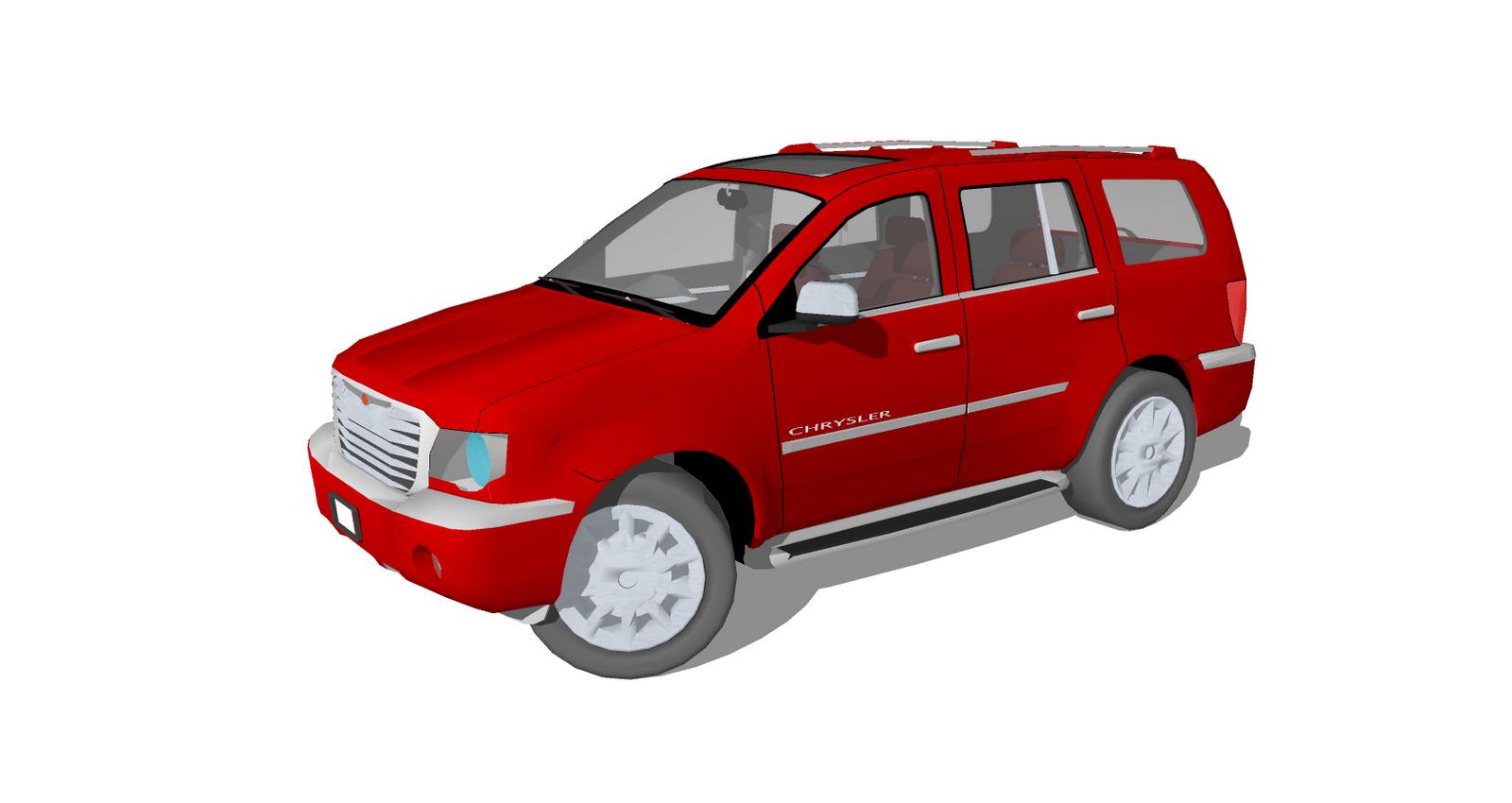 hight resolution of chrysler aspen 3d model finished