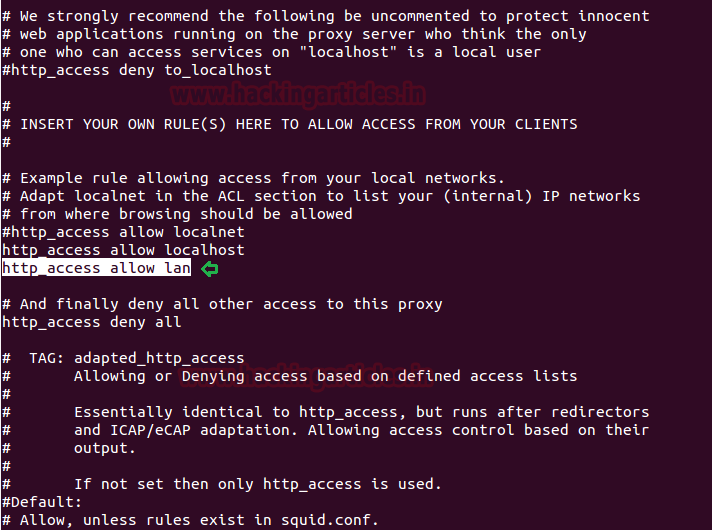 Web Proxy Penetration Lab Setup Testing using Squid
