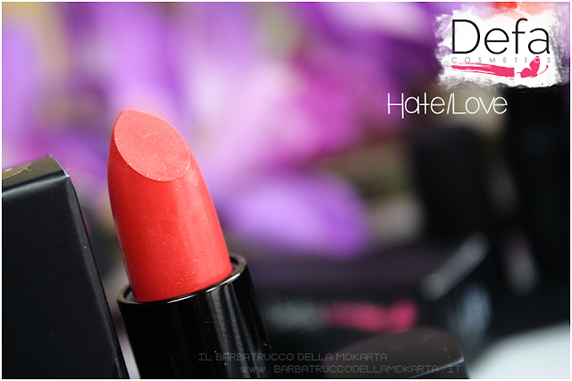 rossetto rosso hate/love Defa cosmetics lipstick