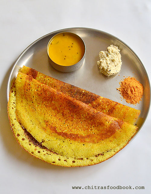 Mint coriander leaves dosa
