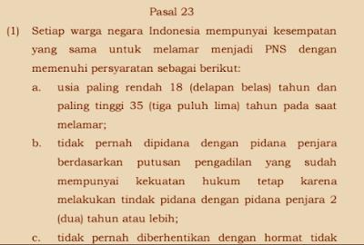 Persyaratan CPNS 2017 sesuai PP Nomor 11 Tahun 2017