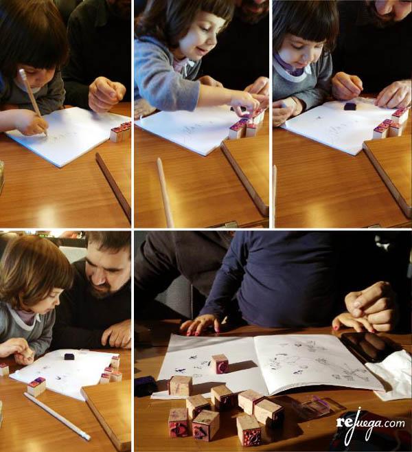 Actividad infantil creativa: Inventar historias con sellos