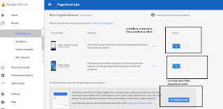 membuat iklan page level ads di blogspot terbaru 2018
