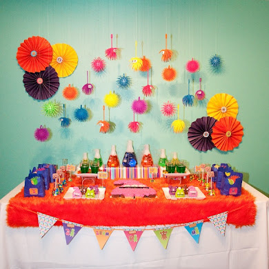 A Colorful Little Monster Birthday Party