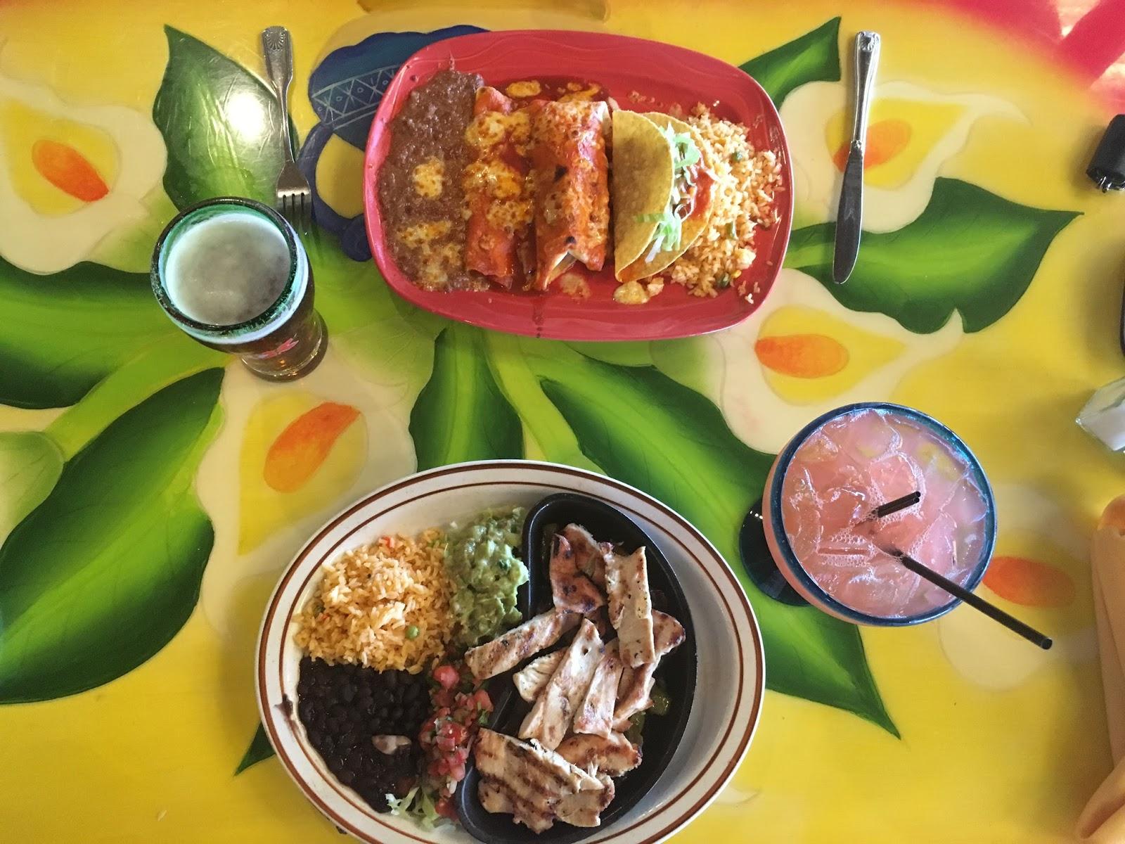 Chicken fajita, burrito, enchilada, and taco at Don Jose Sebring