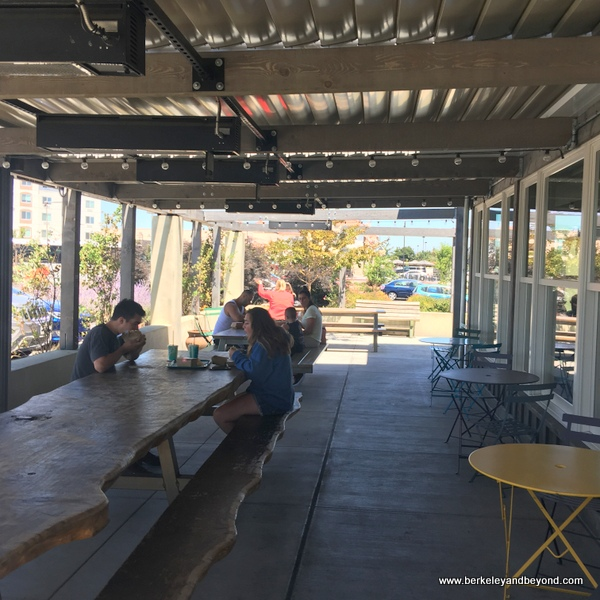 dining patio at Amy's Drive Thru in Rohnert Park, California