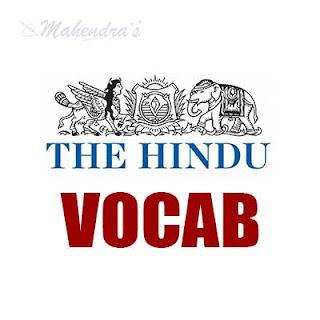 The Hindu Vocabulary ( IBPS Clerk Based)   09 -11 - 17