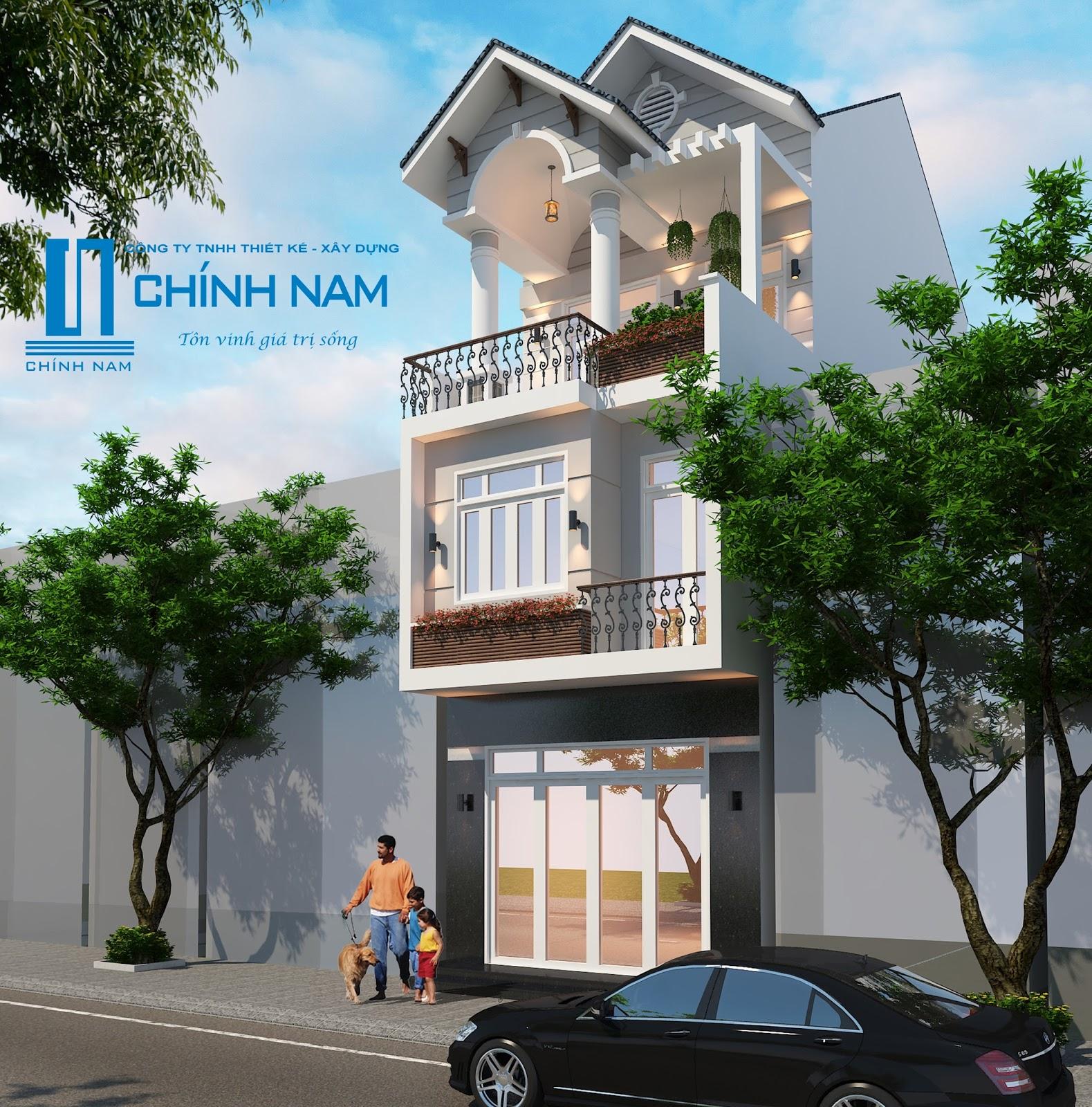 Thiết kế nhà anh Chính ở Biên Hòa - Đồng Nai