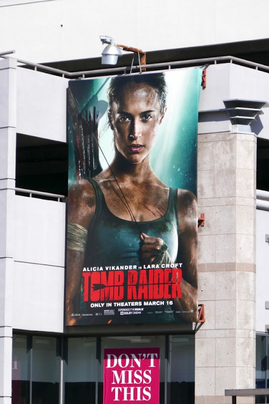Tomb Raider film reboot billboard