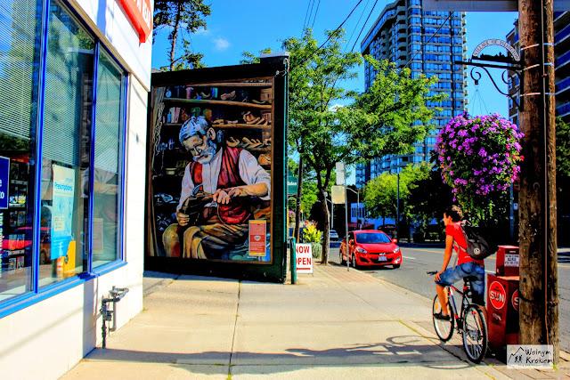 Mural - Praca Szewca w dzielnicy Islington w Toronto