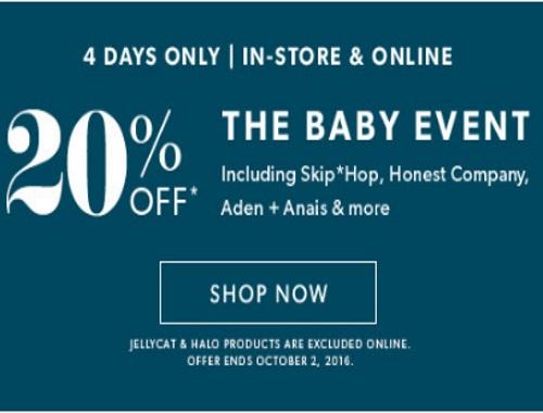 Chapters Indigo 20% Baby Event