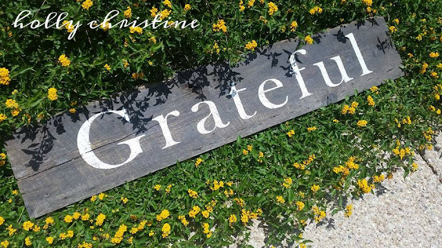 Grateful hand painted sign