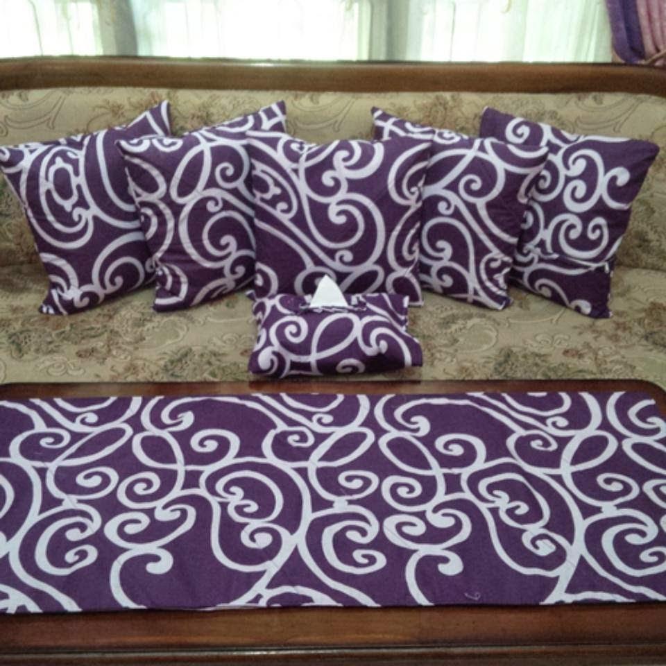 Pilih Motif Semu Aneka Untuk Mempercantik Ruang Tamu Dengan Mengunakan Sarung Bantal Sofa Tempat Tissue Dan Taplak Meja Ukuran