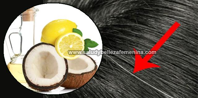 Atenúa las canas naturalmente con aceite de coco y limón, las canas no solo aparecen en la vejez sino que a cualquier edad, hoy  te presentaremos un remedio natural el cual regresará el color natural a tu cabello con un aspecto brillante.