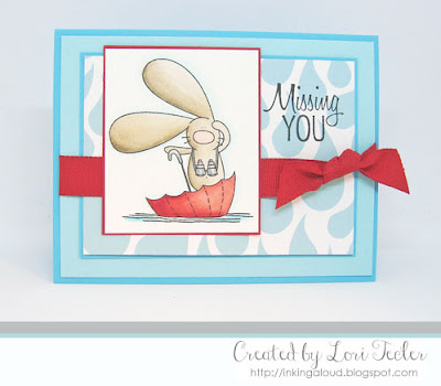 Missing You card-designed by Lori Tecler/Inking Aloud-stamps from The Cat's Pajamas