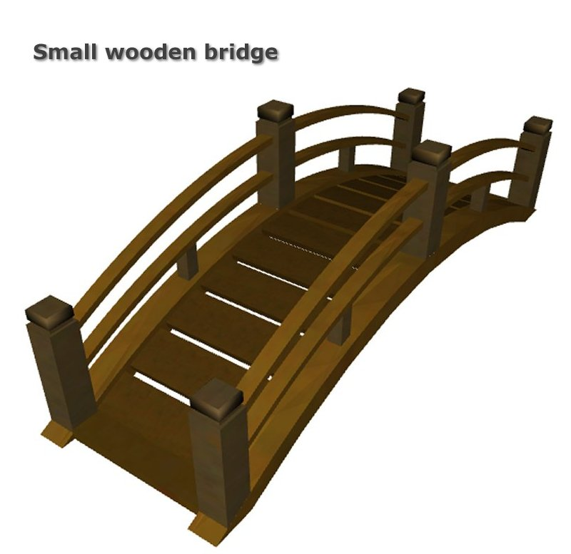 Small Bridges: Simming In Magnificent Style: Small Wooden Bridge