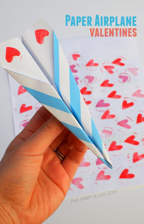 Paper Airplane Valentines- You make my heart soar!