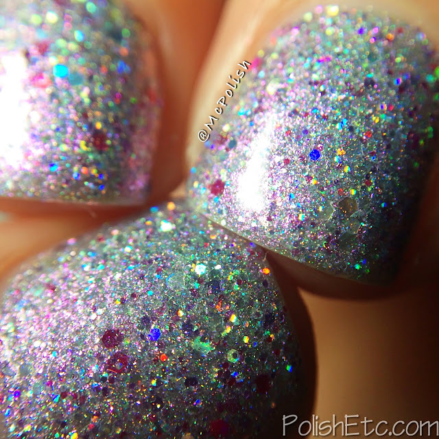 Glam Polish - Think Pink Trio - McPolish - Crystal Couture macro