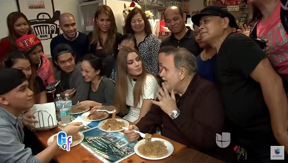 Miss Colombia Ariadna Gutierrez Eats Pancit with Filipinos in Miami