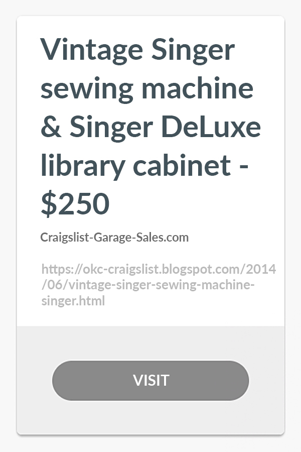 Vintage Singer Sewing Machine & Singer Deluxe Library ...