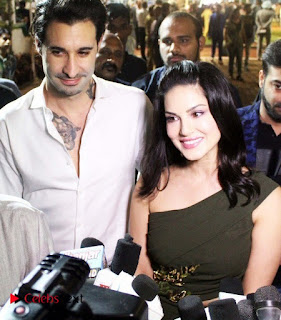 Bollywood Actress Model Sunny Leone Stills at The Atilla Million Race Event  0001.jpg