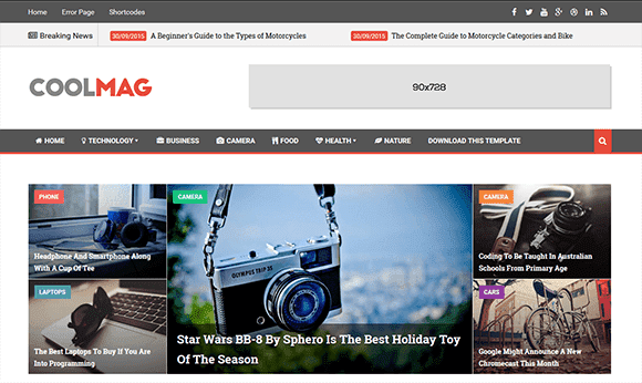 Cool Mag Blogger Teması İndir